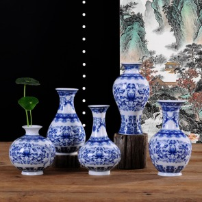 2017-NEW-Vintage-Chinese-Wind-font-b-Blue-b-font-and-White-Porcelain-font-b-Decorative