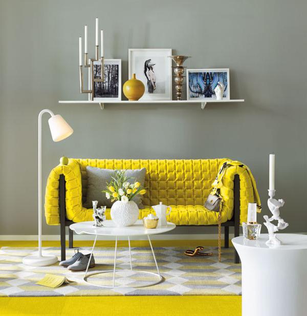 Combinando-Cores-Amarelo-Cinza-decoração-casa-sala-quarto-cozinha-1